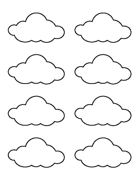 cloud printable template small cloud pattern use the printable outline for crafts