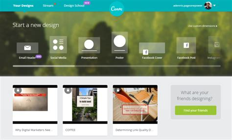 canva home using canva to create high quality images for blog posts