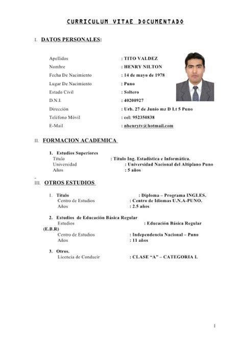 Resume Cv Dalam Bahasa Inggris Contoh Cv Bahasa Inggris Yang Benar