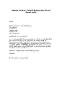 Request Letter Hr Address Proof Employment Verification Request Letter Template The