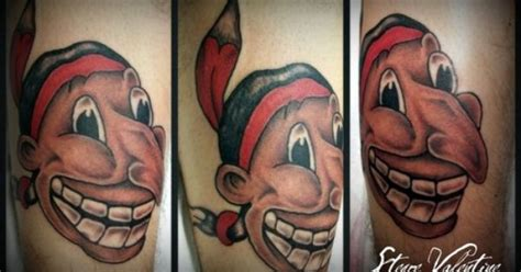 chief wahoo tattoo cool chief wahoo tatoo ideas d and