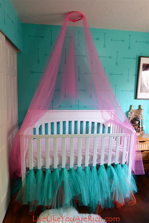 How To Sew A Crib Skirt by How To Make A Ballerina Tulle Crib Skirt Live Like You