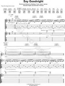 bullet for my tab bullet for my quot say goodnight quot guitar tab in f