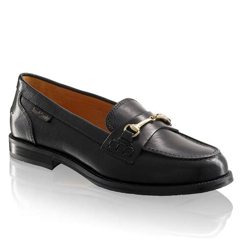 and bromley loafers brewster snaffle trim loafer in black leather