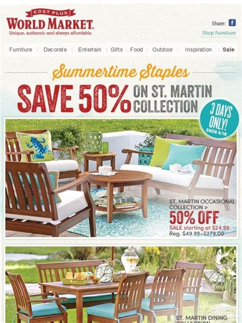 Cost Plus World Market Patio Furniture by Cost Plus World Market Save 50 On Our Popular St Martin
