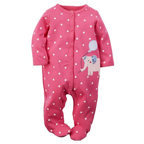 Pajamas Baby s newborn s footed pajamas elephant