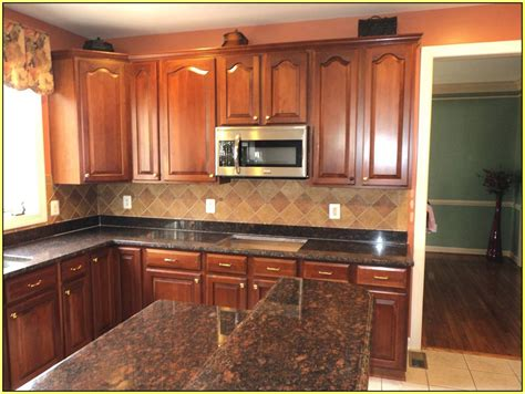 Brown Kitchen Cabinets With Granite Countertops by Brown Granite Countertops Kitchen Home Design Ideas