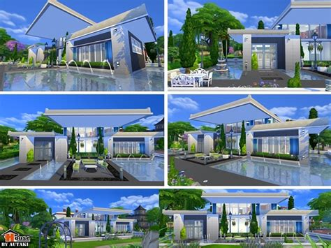 home design for sims 4 sirintra modern design house by autaki at tsr 187 sims 4 updates