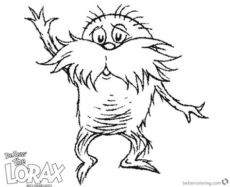 The Lorax Printable Coloring Pages
