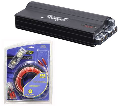 how to install guitar capacitors car audio capacitor install package includes stinger spc5050 4 kit closeout