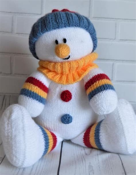 knitted snowman snowman softie knitting by post