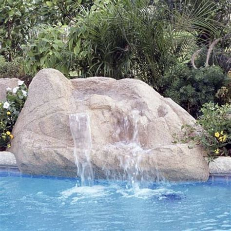 waterfalls for pools inground taos waterfall swimming pool waterfall swimming pool