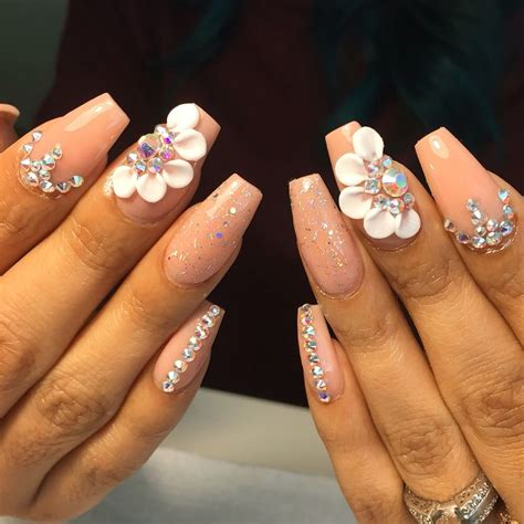 3d Nails by Best 10 3d Nails Ideas On Rhinestone Nail