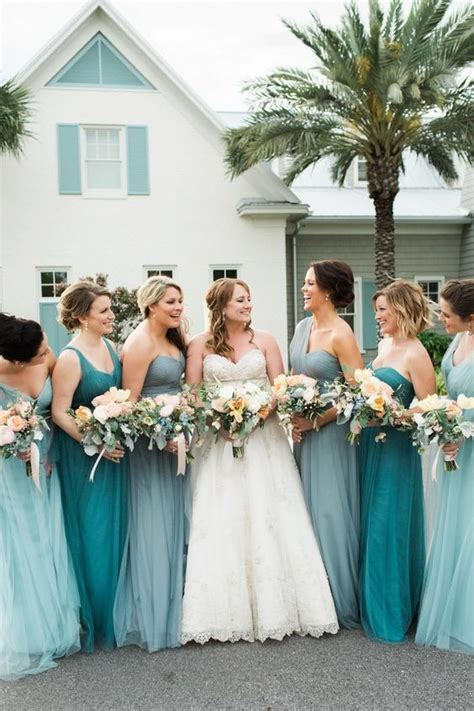 teal color bridesmaid dresses teal bridesmaid multi designing costume fashion
