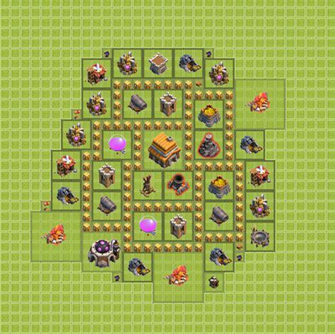 layout coc paling kuat th 7 base coc th 5 terlengkap terbaik dan terbukti paling kuat
