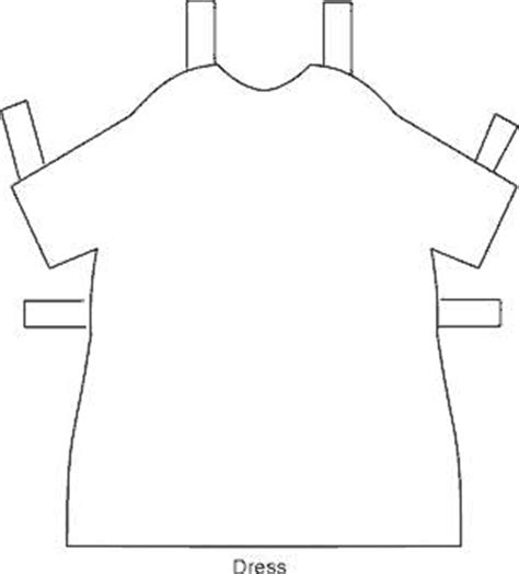 paper doll template clipart best