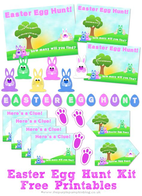 easter egg hunt template free easter weekend activities 187 the purple pumpkin