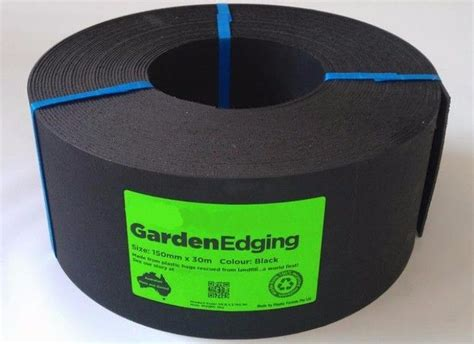 Landscape Edging Roll 30m Roll Of 150mm High Black Recycled Plastic Garden