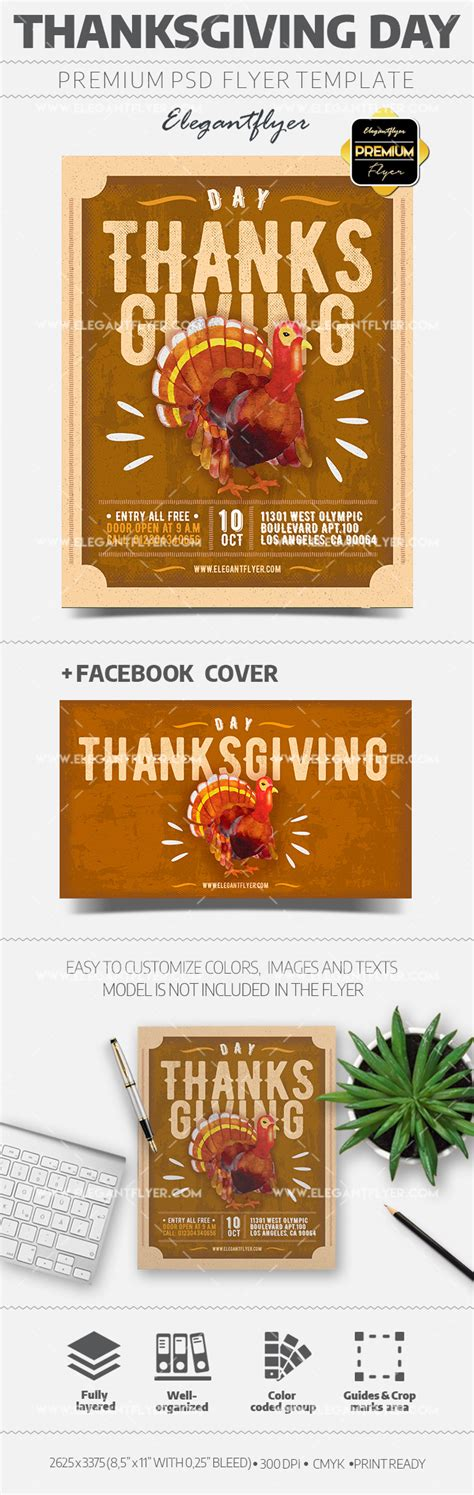 Thanksgiving Flyer Psd Template By Elegantflyer Thanksgiving After Effects Template
