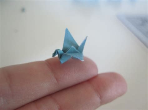 Smallest Origami Crane - a flock of cranes our humble abode