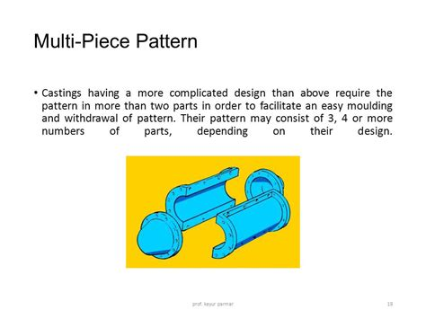multiple piece pattern in casting introduction to metal casting ppt download