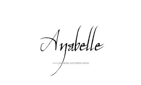 tattoo name ana anabelle name tattoo designs