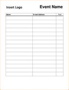 Free Templates For Sign In Sheets by Free Printable Sign Templates Vertola