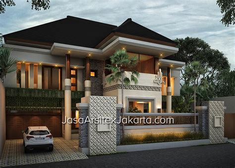 layout rumah tradisional bali desain rumah megah double facade luas 570 m2 square and