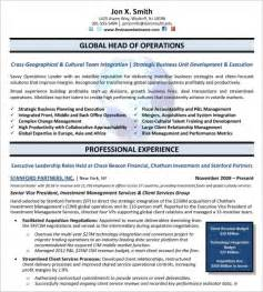 Resume Templates For Executives 10 executive resume templates free sles exles formats free premium