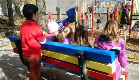 buddy bench at school muskoka beechgrove ps celebrates the installation of buddy benches tomorrow