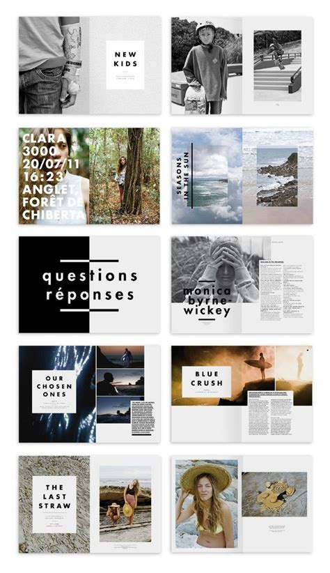 photography board layout proposal inspiration editorial design pinterest
