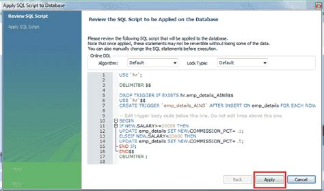 insert date format to mysql mysql triggers w3resource