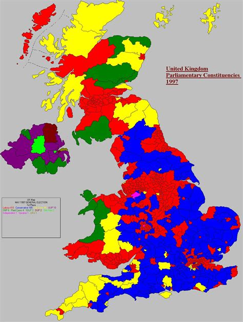 map uk election results united kingdom general election 1997