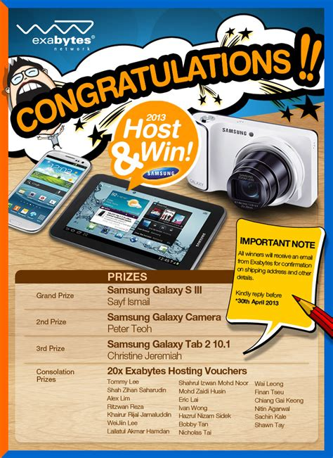 Hosting Photo Contest by Host Win Contest Q1 Winner Announcement Exabytes
