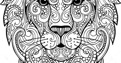 hand drawn doodle zentangle lion illustration decorative ornate vector lion head drawing