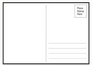 free blank postcard template for word postcard back template wordscrawl