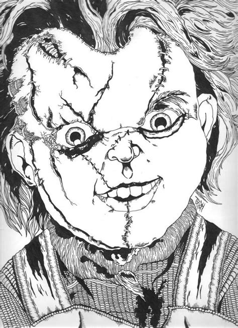 doll chucky colouring pages