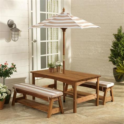 kidkraft bench table set kidkraft outdoor table bench set oatmeal wooden kids furniture