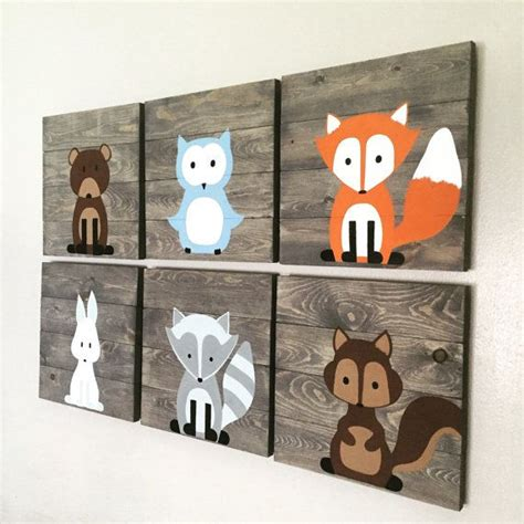 owl decor childrens gifts signs home decor rustic by best 25 woodland creatures nursery ideas on pinterest