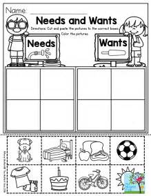 wants and needs worksheets for first grade www imgarcade