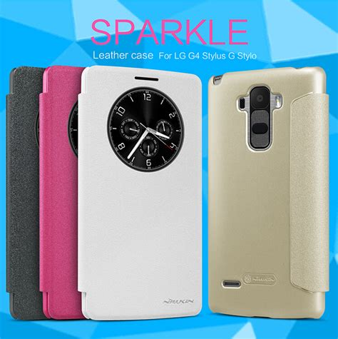 Sparkle Nilkin Lg G4 Stylus Leather for lg g4 stylus phone cases nillkin sparkle leather for lg g stylo cover for g4 stylus