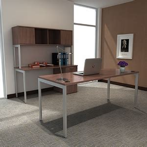 Office Furniture Unlimited by Lancata Credenza With Pedestal File Walnut Lccrp6024wl
