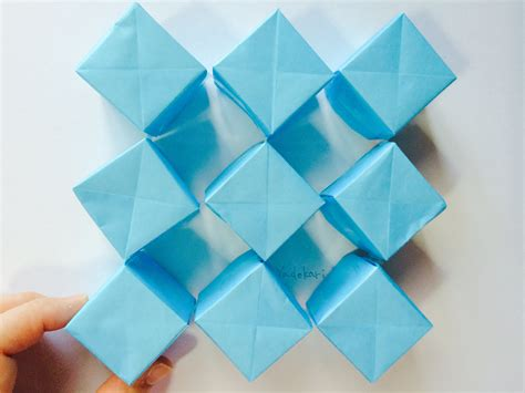 How To Make A Paper Moving Cube - origami moving cubes 折り紙 動くキューブ