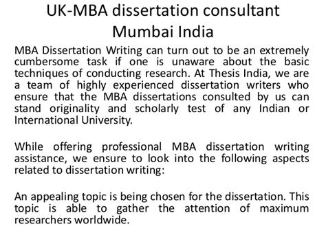 Consultancy In Mumbai For Mba Finance by Uk Mba Dissertation Consultant Mumbai India