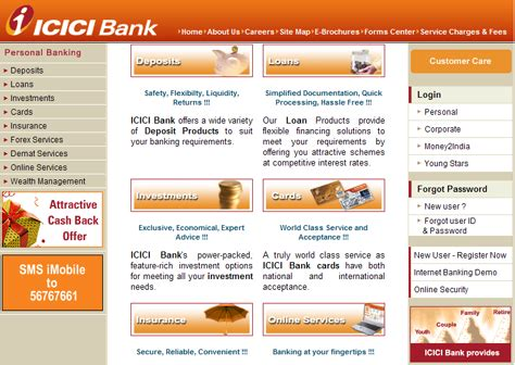icici bank official site user experience in india uxmatters