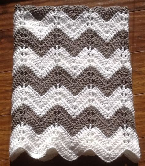 grey pattern blanket chevron ripple baby blanket baby afghan crochet grey and