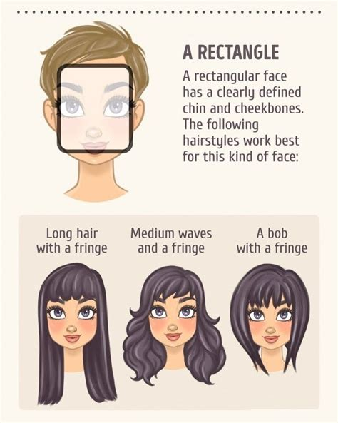 matching hairstyles to face shapes 2 a rectangle face shapes pinterest face shapes