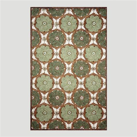 World Market Outdoor Rugs Green Lakai Circles Indoor Outdoor Rug World Market
