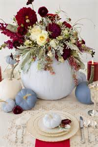Small Floral Centerpieces by Dusty Blue And Cranberry Fall Decor Fab You Bliss