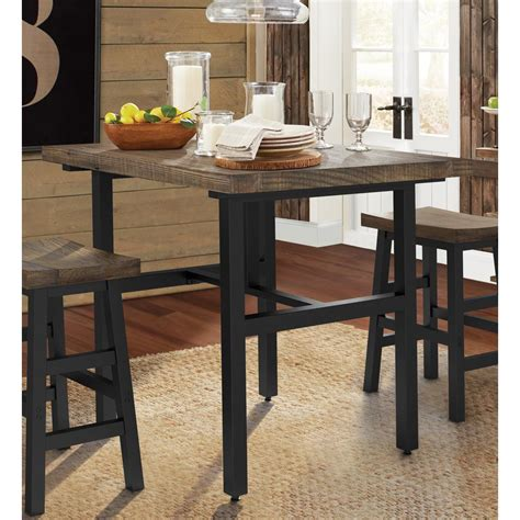 wood counter height dining table alaterre furniture pomona 36 in h brown reclaimed wood